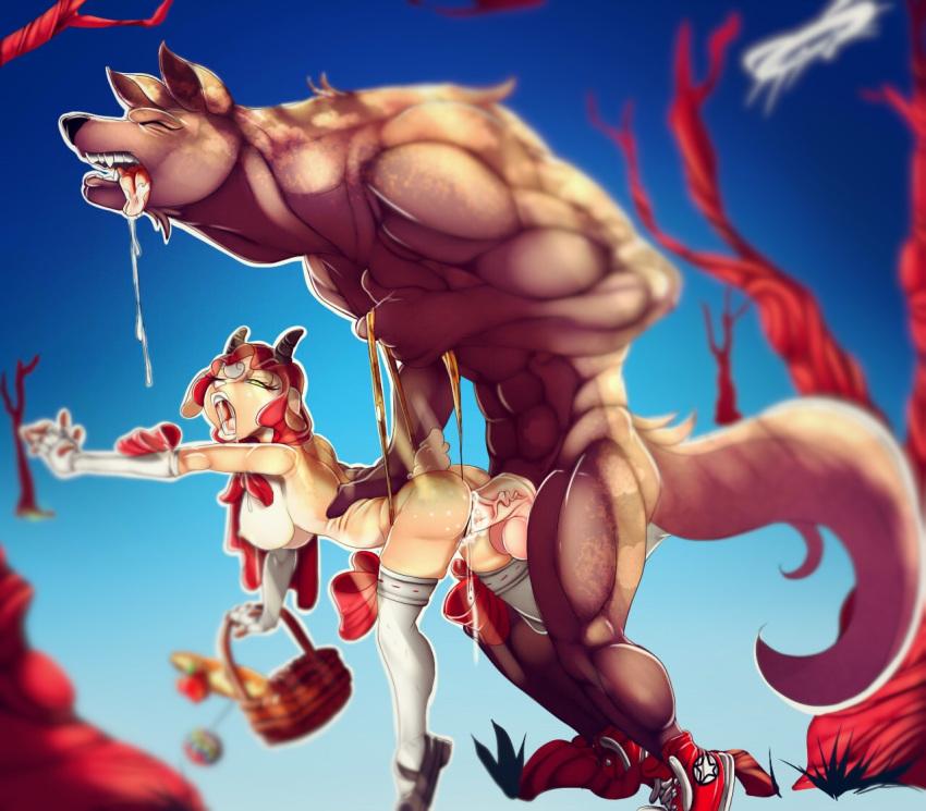 little riding nude red hood Isekai wa smartphone to tomo ni hentai