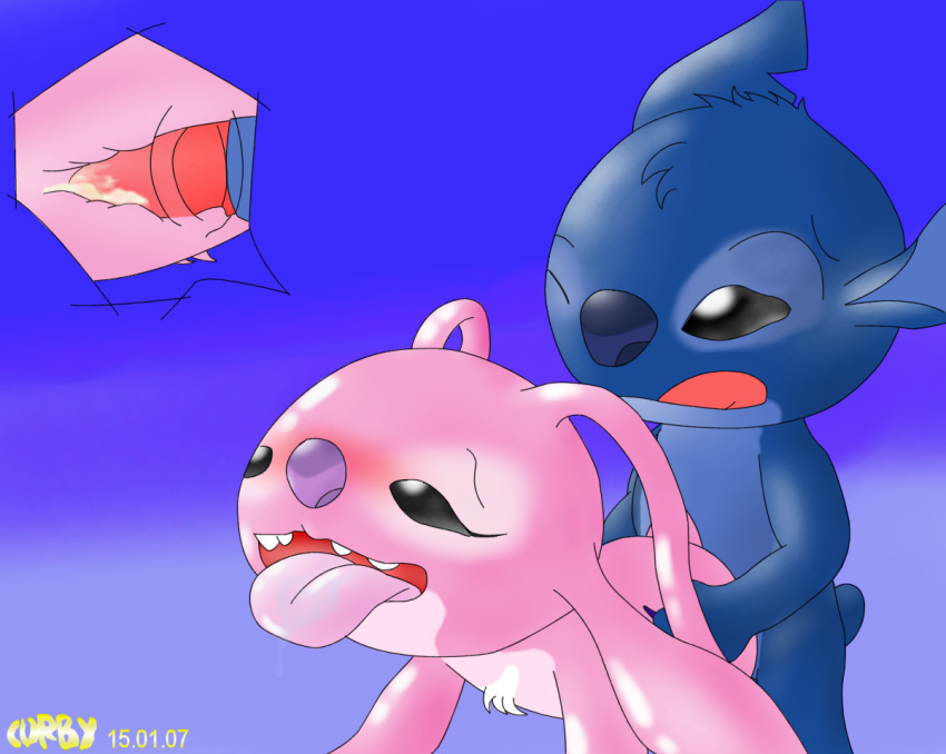 stitch lilo and Samus and the baby metroid