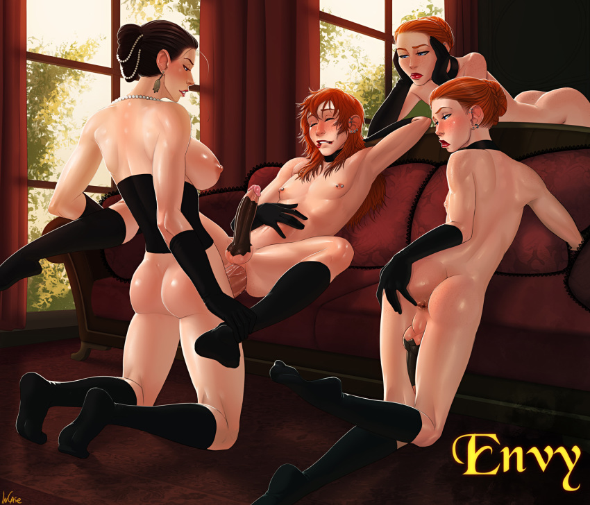 sins anime deadly seven diane Harley quinn and poison ivy nude