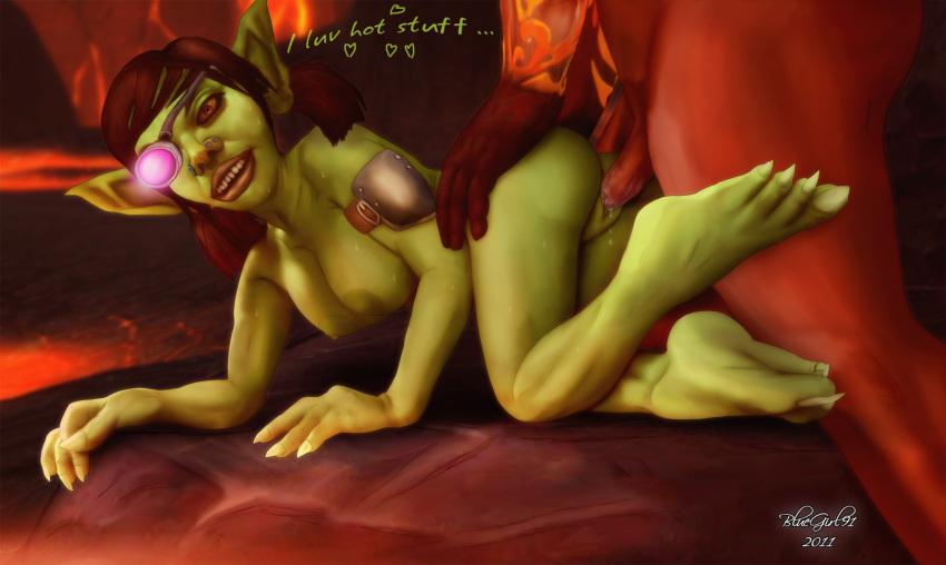 warcraft world female of goblin Shantae half genie hero
