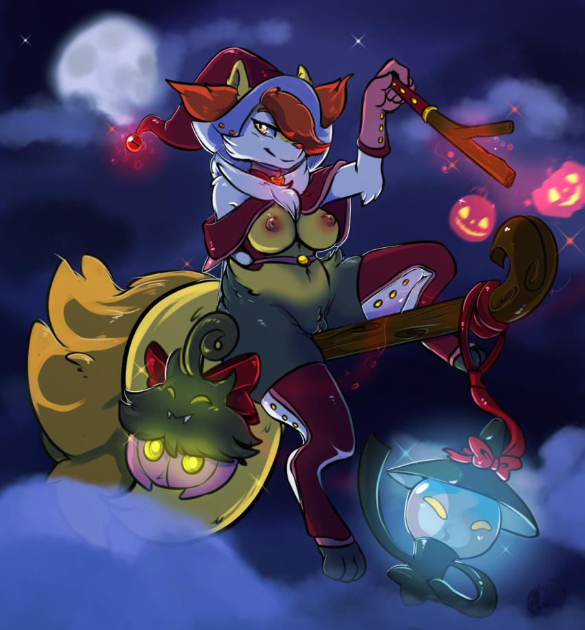 with fire orange pokemon tail Abigail stardew valley
