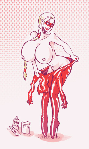 rose of black tarot the Breasts painted like easter eggs